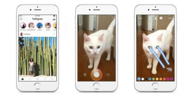 Instagram insegue Snapchat, arrivano le Storie