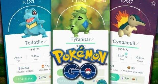 Disponibile un nuovo aggiornamento per Pokemon Go