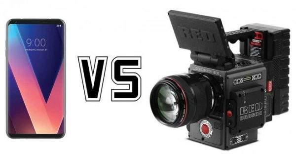 LG V30 vs RED Weapon